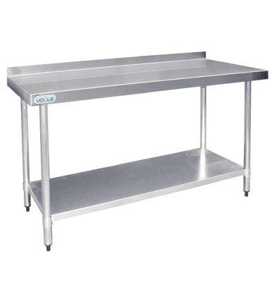 F.E.D. Table De Travail Inox + Dosseret - 1800(L)mm