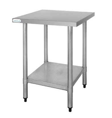 CHRselect Table De Travail Inox - Sans Rebords - 600x600x900(h)mm