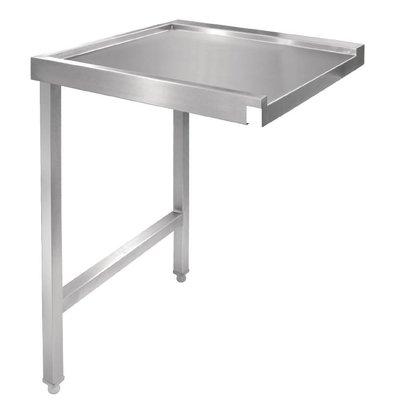 CHRselect Table De Sortie Gauche Inox - Pour Lave-Vaisselle à Capot - 600mm