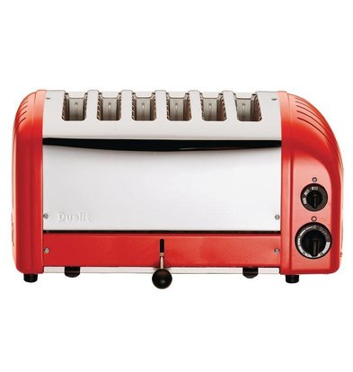 Dualit Grille-Pain Rouge | Dualit Vario | 6 Tranches | 3000W