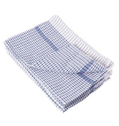 CHRselect Torchon De Cuisine Coton - Usage Général - Bleu - 762(l)x508(L)mm - 10 Pièces