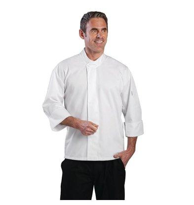 CHRselect Veste Chef Unisexe Blanche - Manches Longues - Orlando - Disponibles En 6 Tailles