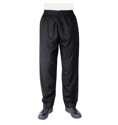 CHRselect Pantalon De Cuisinier Unisexe Noir - Polyester/Coton - Disponibles En 6 Tailles