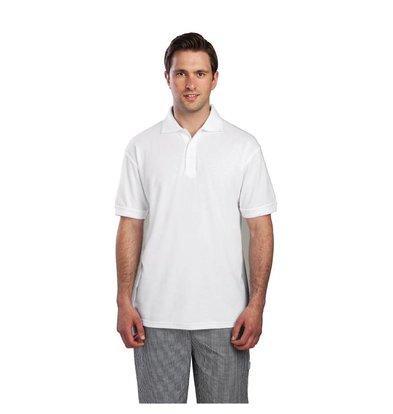 CHRselect Polo Blanc - Unisexe - Polyester/Coton - Disponibles En 4 Tailles