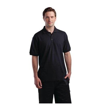 CHRselect Polo Noir - Unisexe - Polyester/Coton - Disponibles En 4 Tailles