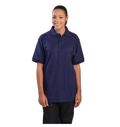 CHRselect Polo Bleu Marine - Unisexe - Polyester/Coton - Disponibles En 4 Tailles