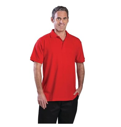 CHRselect Polo Rouge - Unisexe - Polyester/Coton - Disponibles En 4 Tailles
