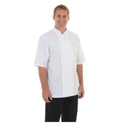CHRselect Veste De Cuisinier CoolVent - Chef Works Montréal - Manches Courtes - Blanche - Disponibles En 6 Tailles