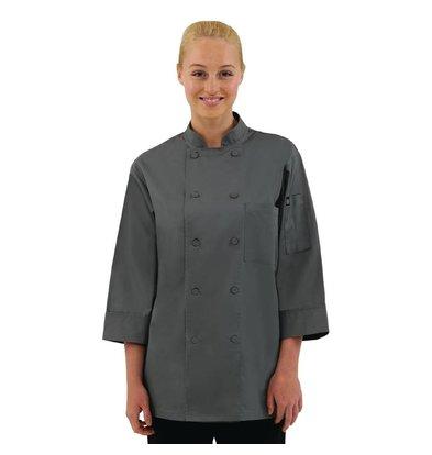 CHRselect Veste De Cuisinier Manches 3/4 - Chef Works - Grise - Disponibles En 6 Tailles