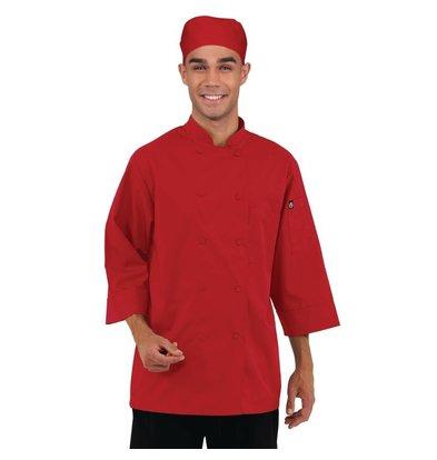 CHRselect Veste De Cuisinier Manches 3/4 - ChefWorks - Rouge - Disponibles En 6 Tailles