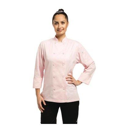 CHRselect Veste Chef Femme - Marbella ChefWorks - Rose - Disponibles En 5 Tailles