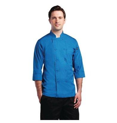 CHRselect Veste De Cuisinier Manches 3/4 - ChefWorks - Bleue - Disponibles En 6 Tailles