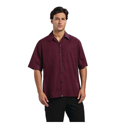 CHRselect Chemise Chef CoolVent - Chef Works - Hommes - Aubergine XL