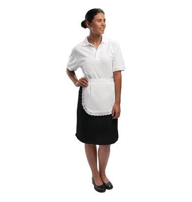 CHRselect Tablier De Serveur Sans Poche - Unisexe - Blanc - Taille Unique