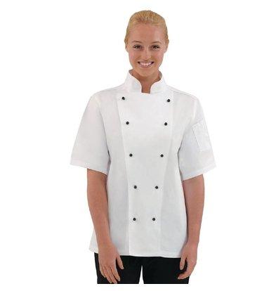 CHRselect Veste Chef à Manches Courtes - Blanche - Whites Chicago - Disponibles En 6 Tailles