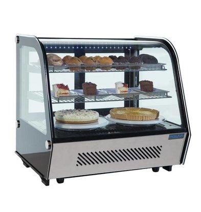 Polar Vitrine Réfrigérée Modèle De Table | 120 Litres | 700x570x690(h)mm