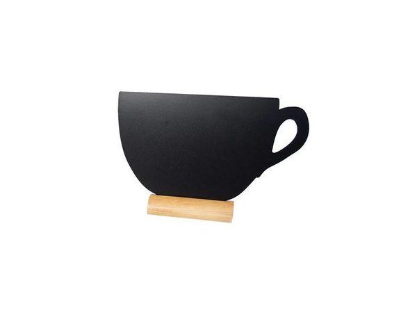 Securit Ardoise Silhouette Tasse + 1 Feutre Craie Blanc
