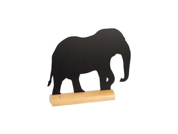 Securit Ardoise Silhouette Éléphant + 1 Feutre Craie Blanc
