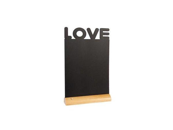 Securit Ardoise Silhouette Love + 1 Feutre Craie Blanc