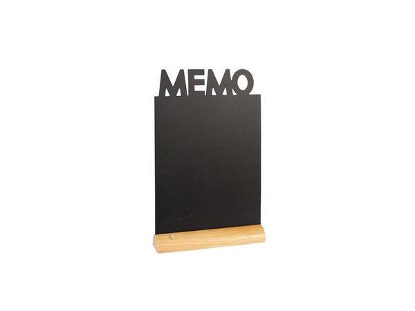 Securit Ardoise Silhouette Memo + 1 Feutre Craie Blanc