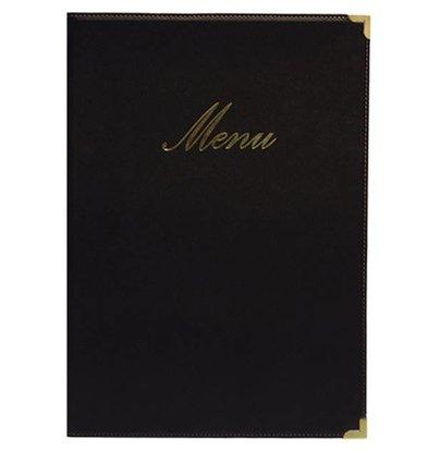 Securit Protège-Menu Classic A4 - Noir