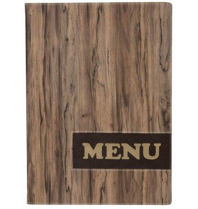 Securit Protège-Menu Design Wood A4