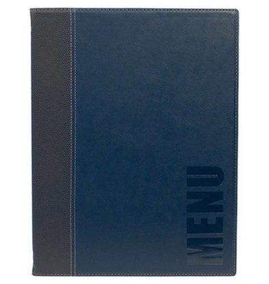 Securit Protège-Menu Trendy A4 - Bleu