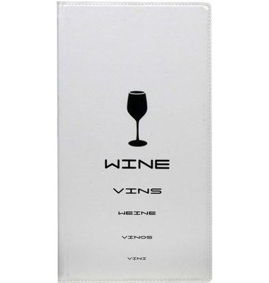 Securit Porte Carte à Vin Design - Blanc LONG - 200x360mm