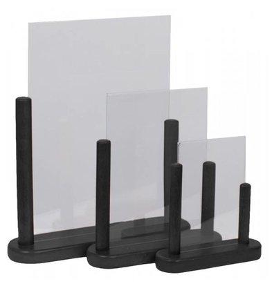 Securit Porte Affiche De Table Noir - Disponibles En 3 Tailles