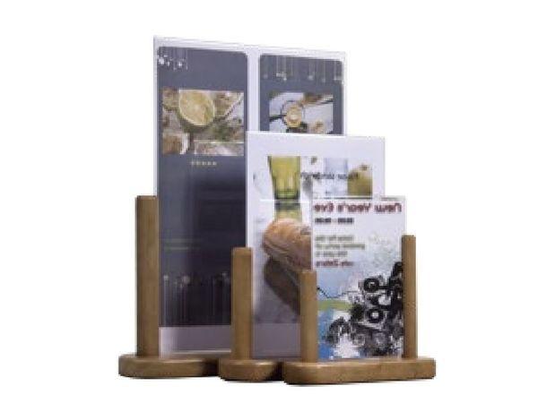 Securit Porte Affiche De Table Teck - Disponibles En 3 Tailles