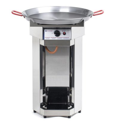 Hendi Barbecue à Gaz Inox - Modèle Fiesta - Poêle 600mm - Professionnel