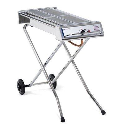 Hendi Xenon Pro Barbecue Power Grill - Inox - Pour Gaz Propane - 1120x410x900(h)mm