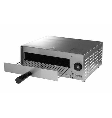 Hendi Four à Pizza Simple Inox | 230V | 1 Pizza Ø300mm | 480x420x195(h)mm
