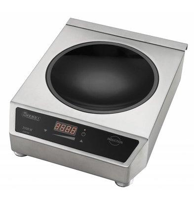 Hendi Plaque à Induction Inox - Modèle 3500 - 3,5kW - 340x450x120(h)mm