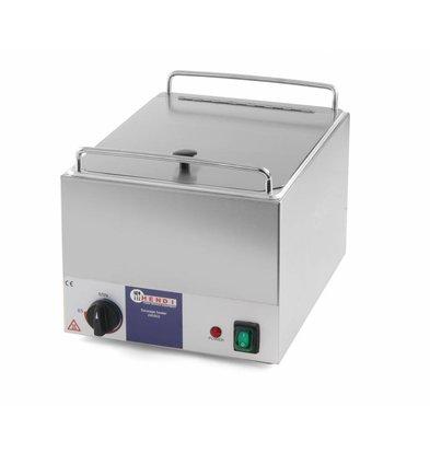 Hendi Chauffe-Saucisses Inox - Kitchen Line - 10 litres - 230V/1kW - 360x270x265(h)mm