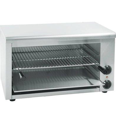 Hendi Salamandre Inox Type 800 - 50°C à 250°C - 3,6kW - 800x450x470(h)mm