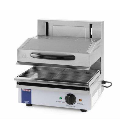 Hendi Salamandre Inox Type 450 - Jusqu'à 300°C - 2,8kW - 480x520x530(h)mm