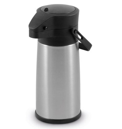 Hendi Pot à Pompe Inox | Système de Pression | 2200ml