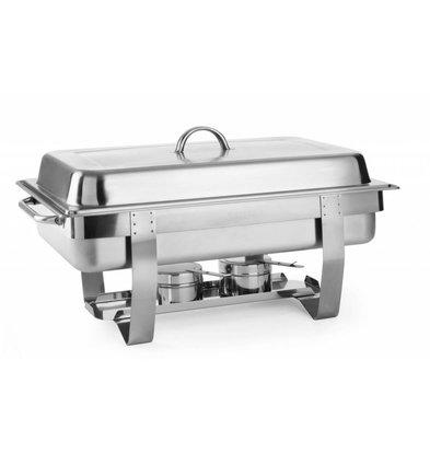 Hendi Chafing Dish GN 1/1 Inox - 9 Litres - 585x385x315(h)mm