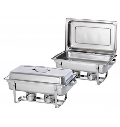 Hendi Set de 2 Chafing Dish   GN 1/1 Inox - 9 Litres   Promotion XXL