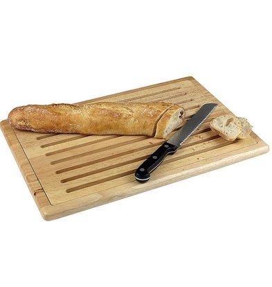 Hendi Planche à Découper - Grille en Bois Amovible - 4 Pieds Anti-Dérapants - 475x322mm
