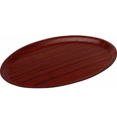 Hendi Plateau Woodform Ovale - Couleur Acajou   Disponibles en 3 Tailles