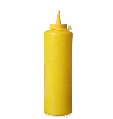 Hendi Set de 3 Flacons Distributeur Jaune - 700ml - Ø70x240mm