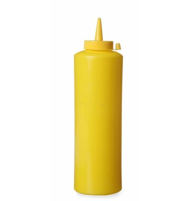 Hendi Set de 3 Flacons Distributeur Jaune - 200ml - Ø50x185mm