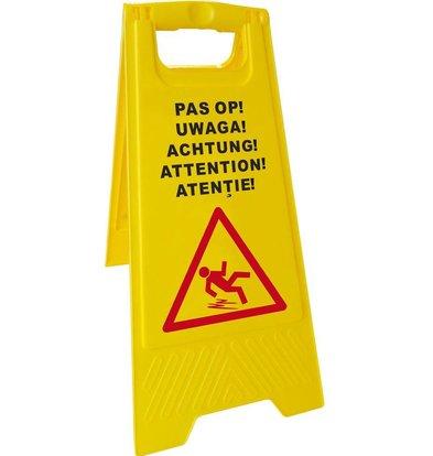 Hendi Panneau 'ATTENTION!' - 5 Langues - 300x615(h)mm