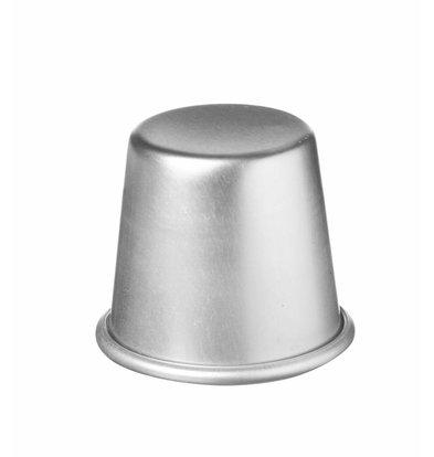 Hendi Moule à Baba - Aluminium - Avec Bord Enroulé - Ø70x68(h)mm