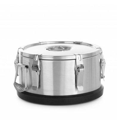 Hendi Conteneur Isotherme Portable - Inox - 10 Litres - Ø320x200(h)mm