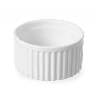 Hendi Ramequin Rainuré - Porcelaine Blanche - Ø90x48(h)mm