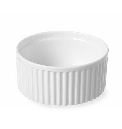 Hendi Ramequin Rainuré - Porcelaine Blanche - Ø120x55(h)mm