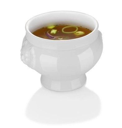 Hendi Bol à Soupe Lionhead - Porcelaine Blanche - 2L - 215x155mm